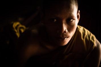 Portrait de moine au Cambodge
