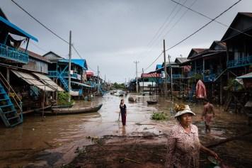 Village flottant au Cambodge