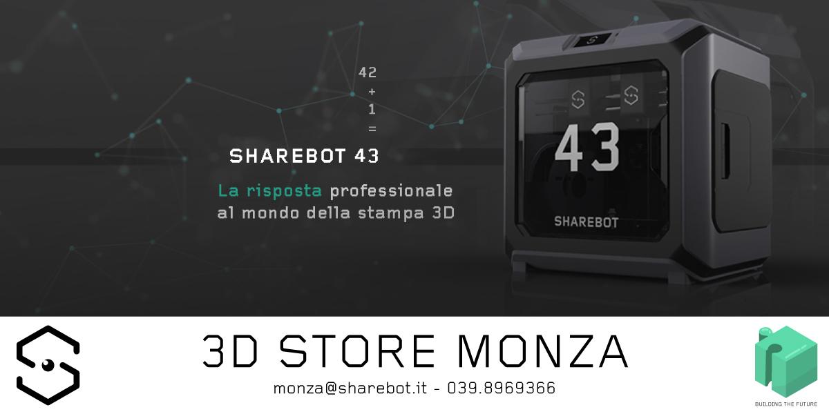 stampante 3d per aziende sharebot 43 3d store monza