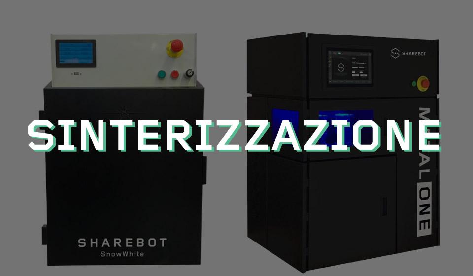 stampanti 3d sinterizzazione sharebot 3d store monza sharebot monza