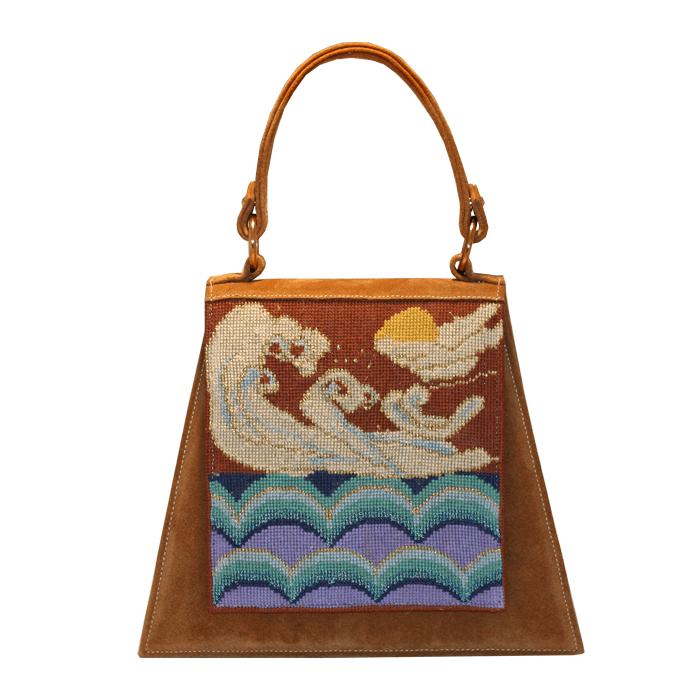 Waves on her kimono