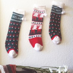 stockings above the mantel