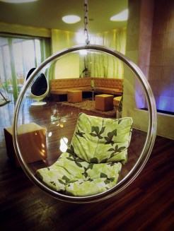 Hanging bubble chairs!