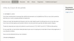 Dysfonctionnement techniques sur France Université Numérique
