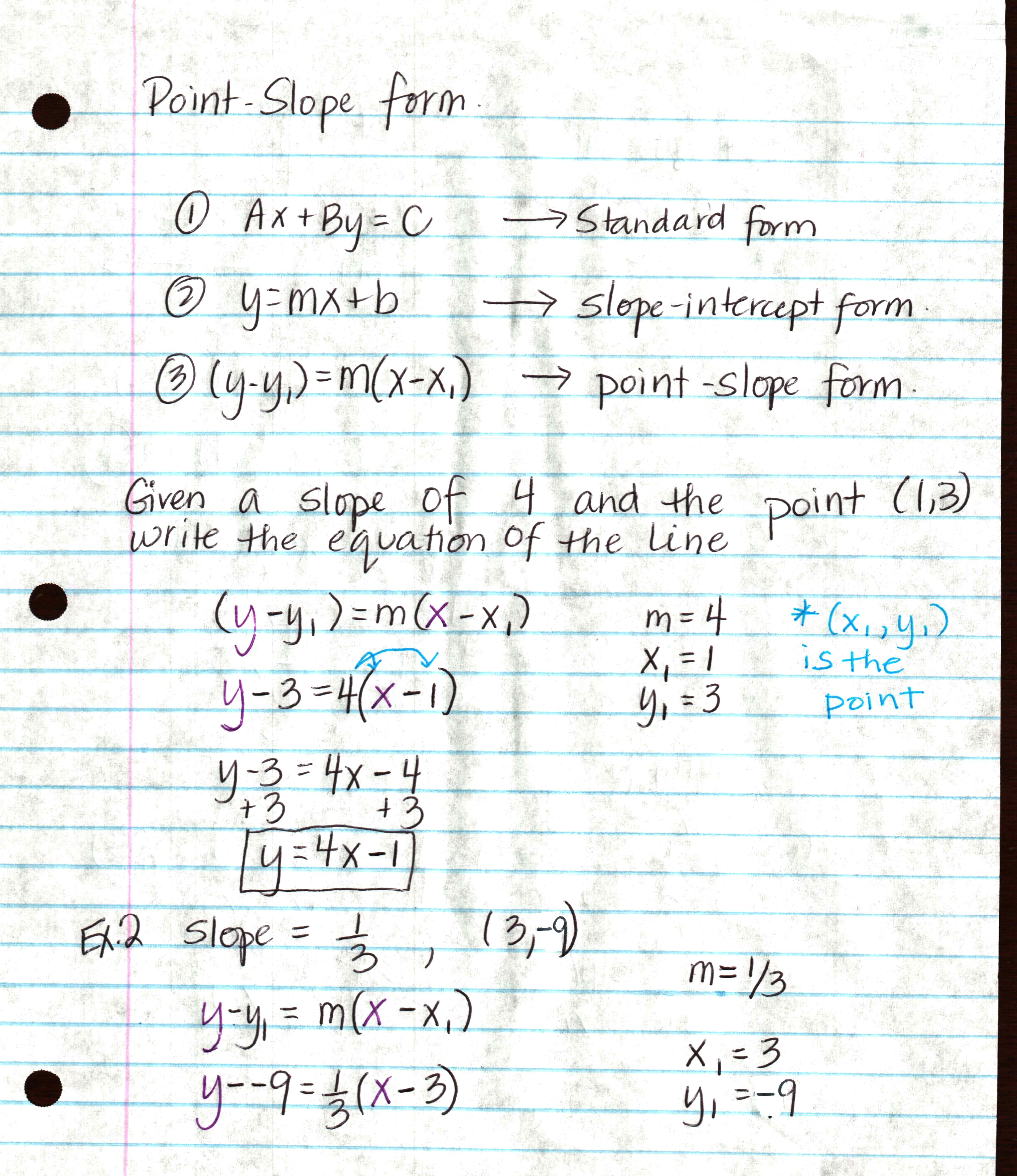 Writing Equations Using Slope Intercept Form Worksheet