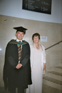 My mother and I at my graduation at University of Ulster