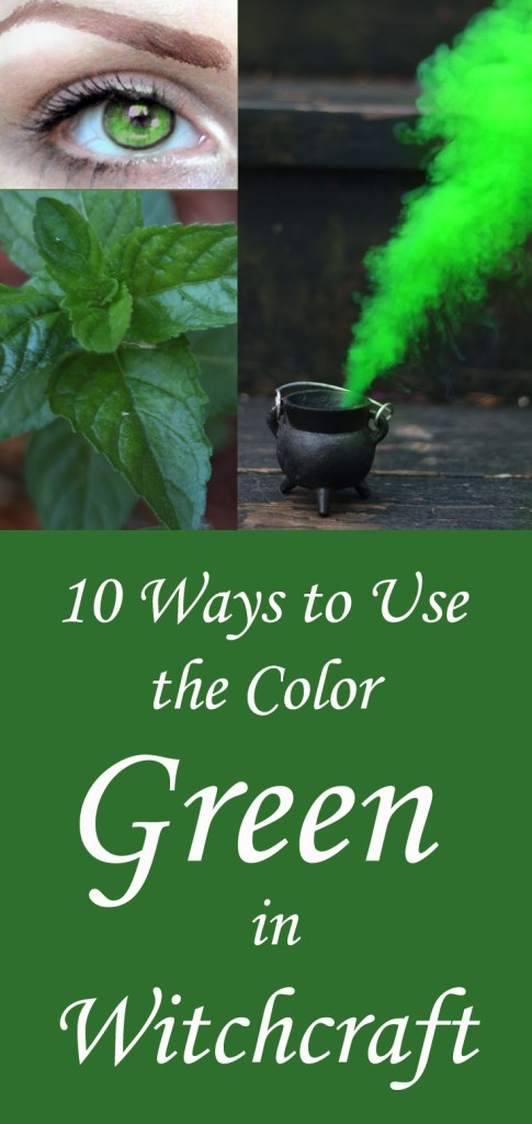 How to use the color green in witchcraft. Ideas for using green in magick to conjure abundance and new beginnings.