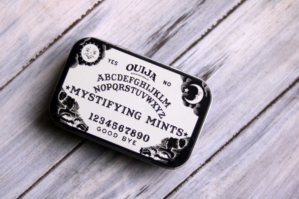 Ouija mint box for travel altar.