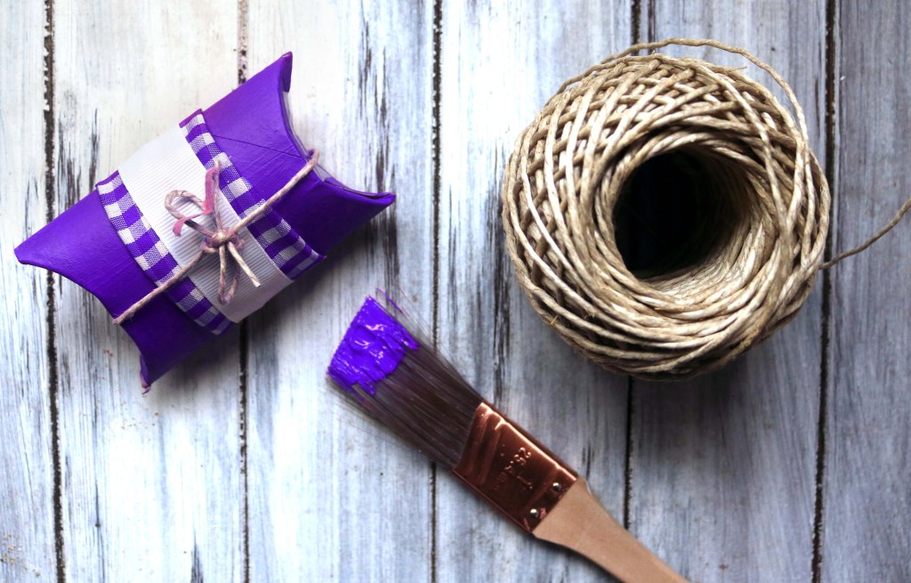 DIY gift boxes made from upcycled toilet paper rolls and other earth-friendly wrapping ideas.