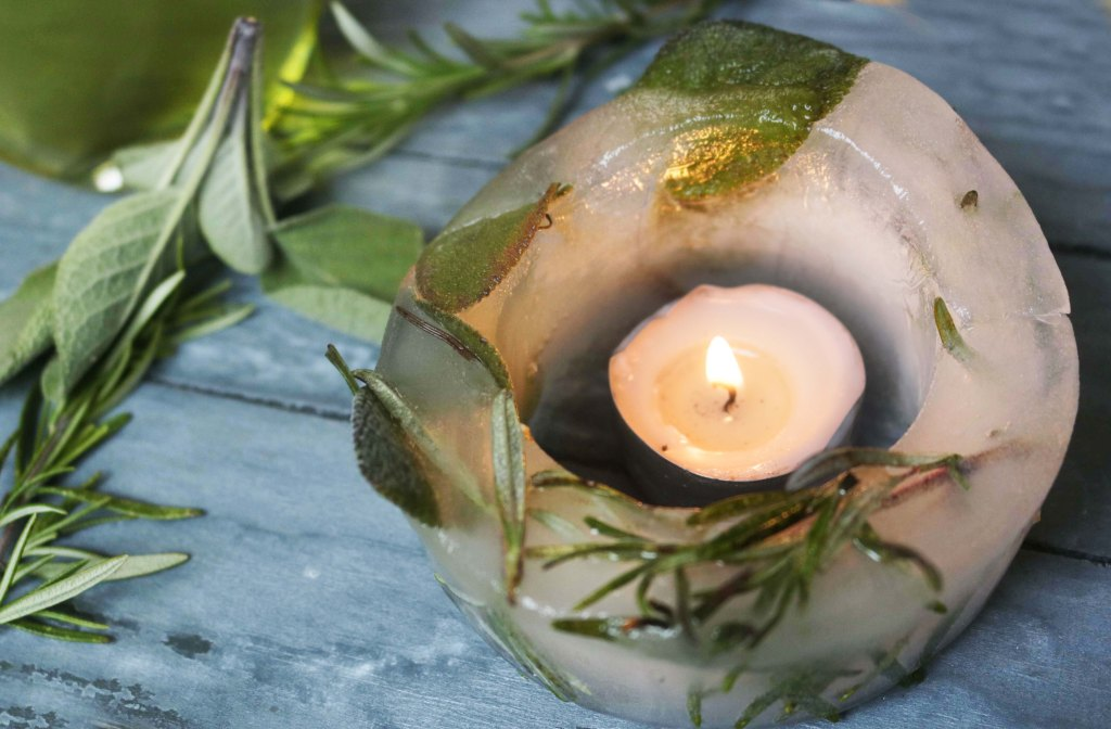 Fire and ice. Combine them with these ice candle lanterns for a little elemental magic on your altar.