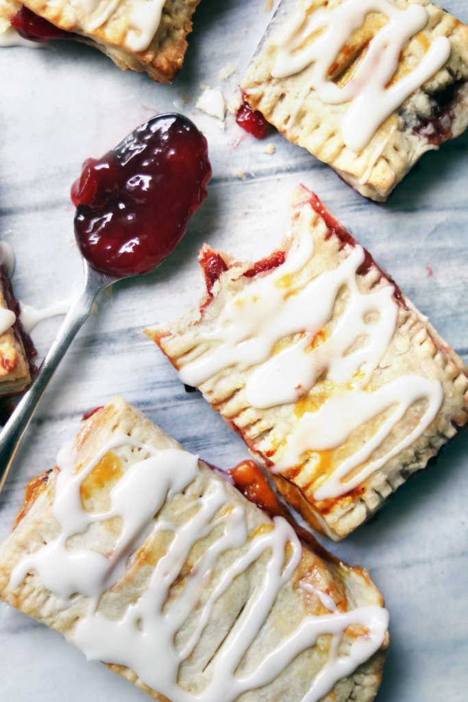 Cherry bourbon strudel for May Day!