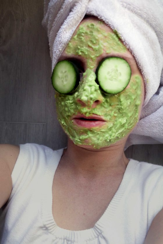 Green goddess facial beauty spell for green witches and kitchen witches.