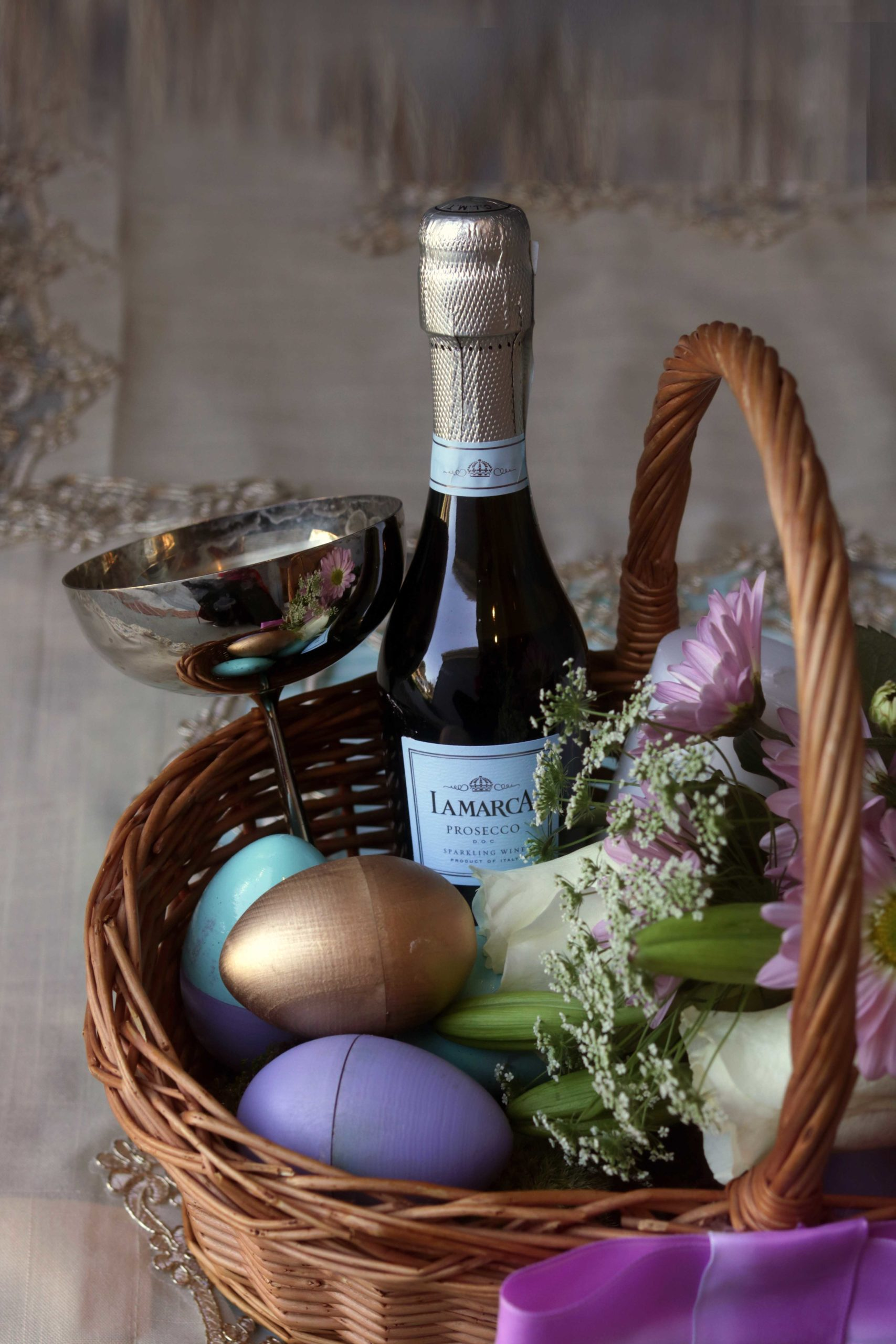 How to create an elegant Ostara or Easter basket.