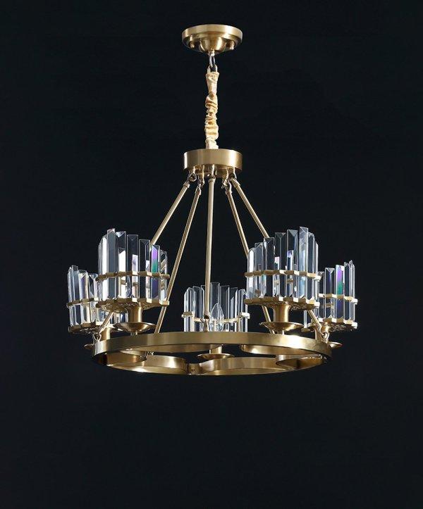 Brass/Crystal Chandelier