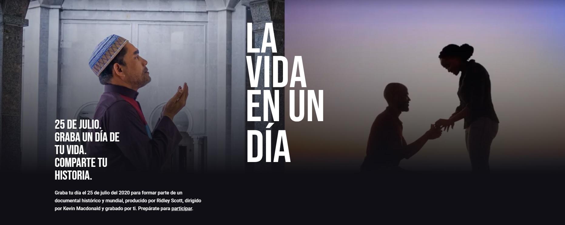 """""""La vida en un día"""", el documental de Ridley Scott dirigido por ti"""