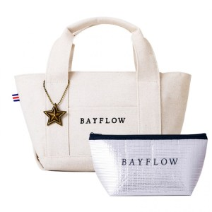 BAYFLOW LOGO TOTE BAG BOOK全国共通アイボリー