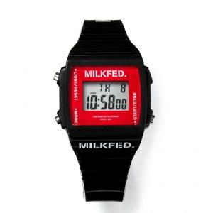 2019年10月発売ムック本MILKFED. DIGITAL WATCH BOOK BLACK付録の腕時計