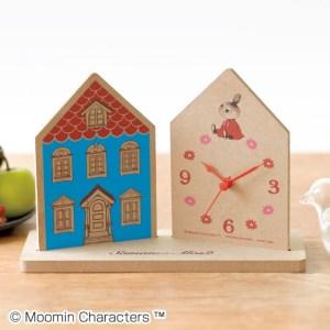 セブン限定雑誌リンネル2020年3月号増刊付録のムーミンハウス型 置き時計