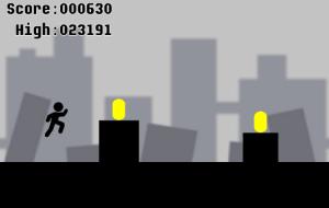 2Dジャンプアクションゲーム「悪路王」