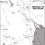 Map of Mexicali to San Felipe Mexico