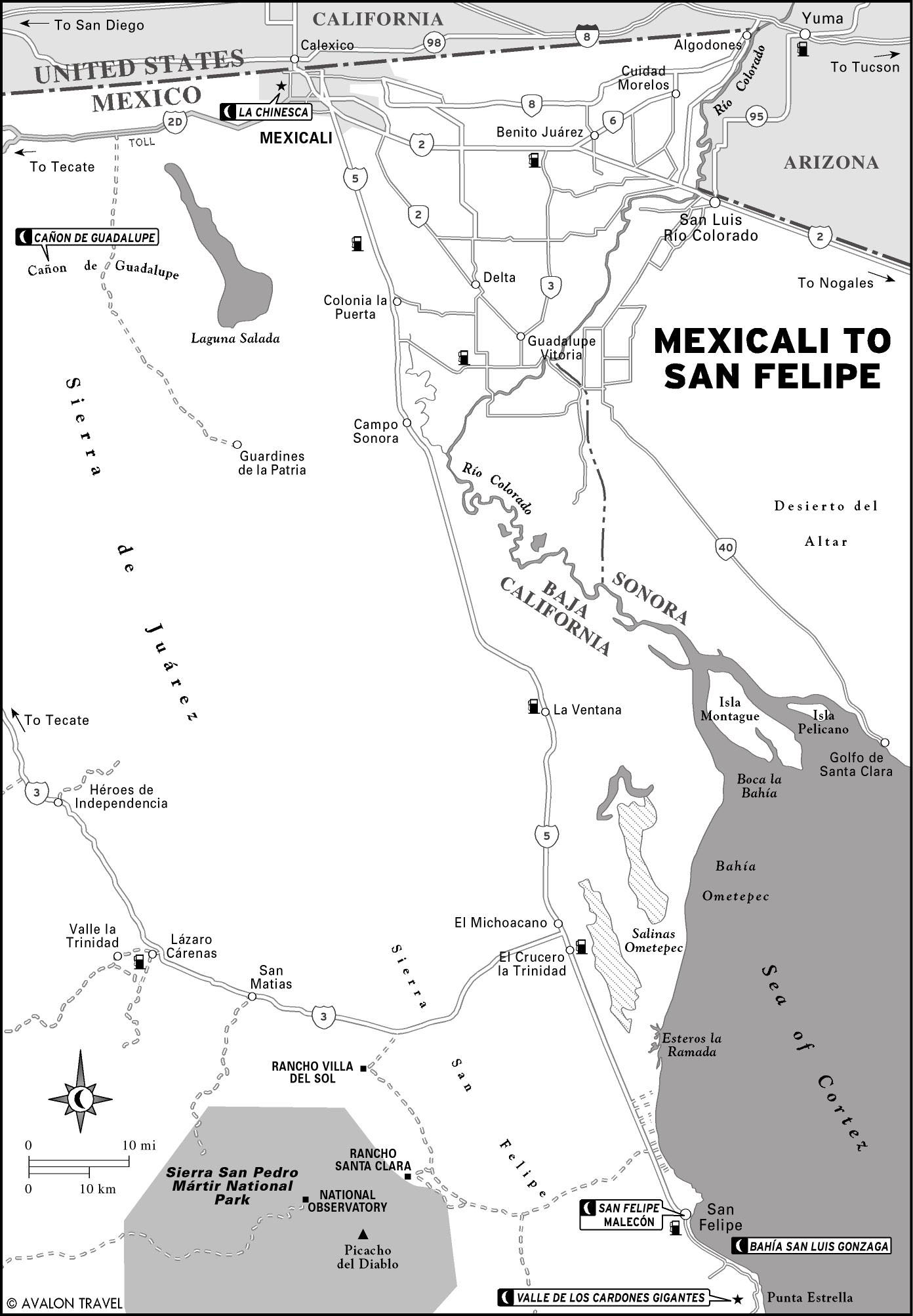 Printable Travel Maps Of Baja Moon Travel Guides