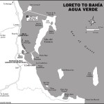 Map of Loreto to Bahia Agua Verde in Mexico