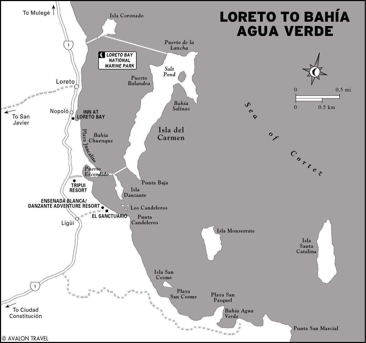 Salinas Mexico Map.Printable Travel Maps Of Baja Moon Travel Guides