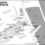Map of Santa Rosalia, Mexico