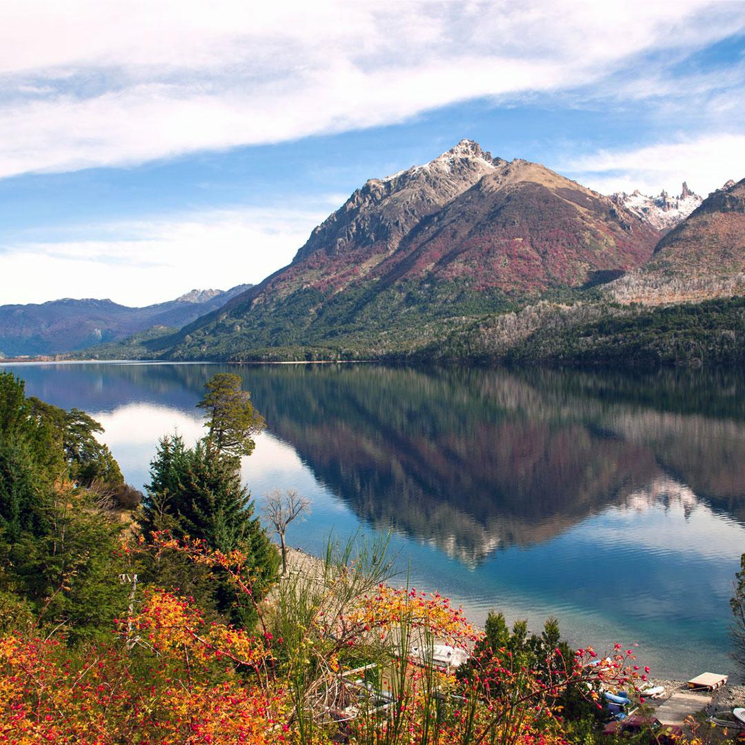 Autumn at Lake Gutierrez near Bariloche, Argentina.