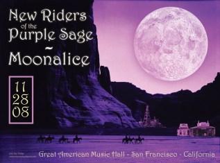 11/28/08 Moonalice poster by Alexandra Fischer
