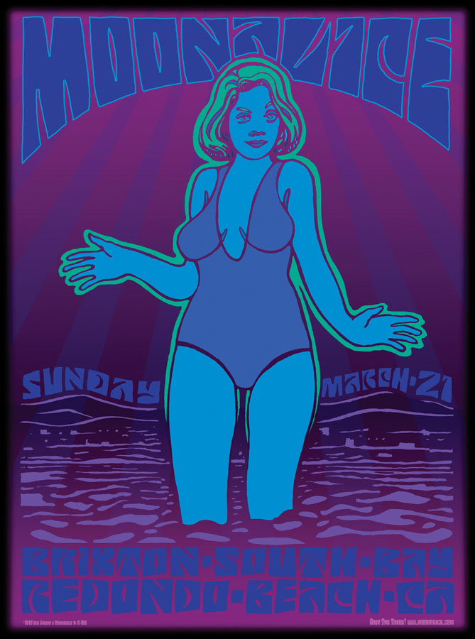 M254 › 3/21/10 Brixton South Bay, Redondo Beach, CA poster by Wes Wilson