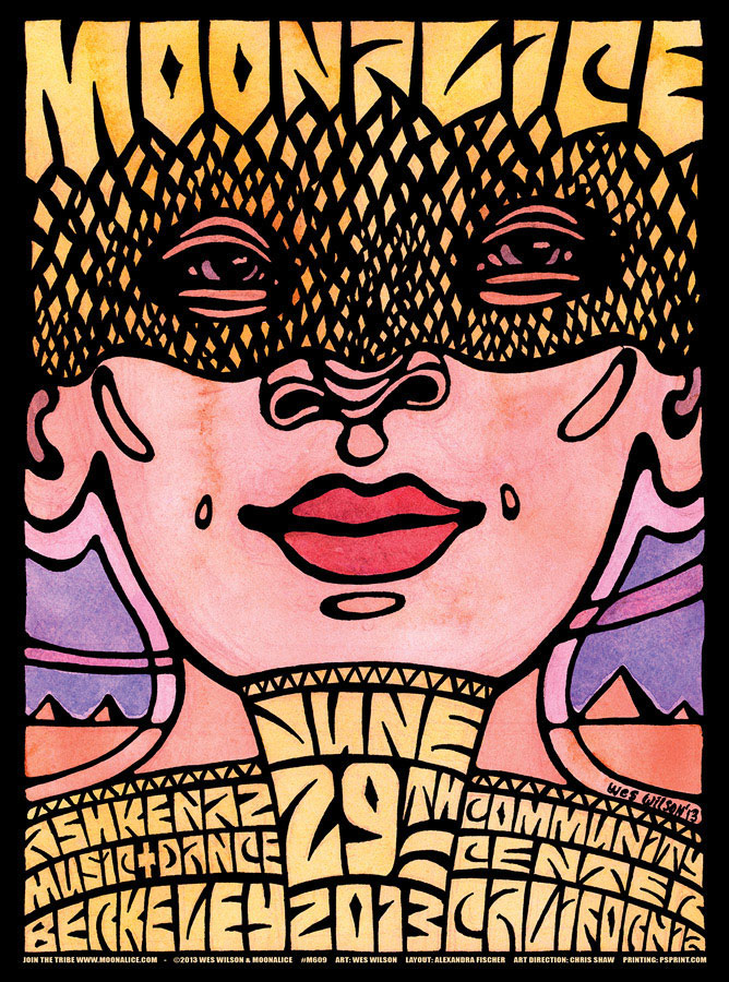 M609 › 6/29/13 The Ashkenaz, Berkeley, CA poster by Wes Wilson
