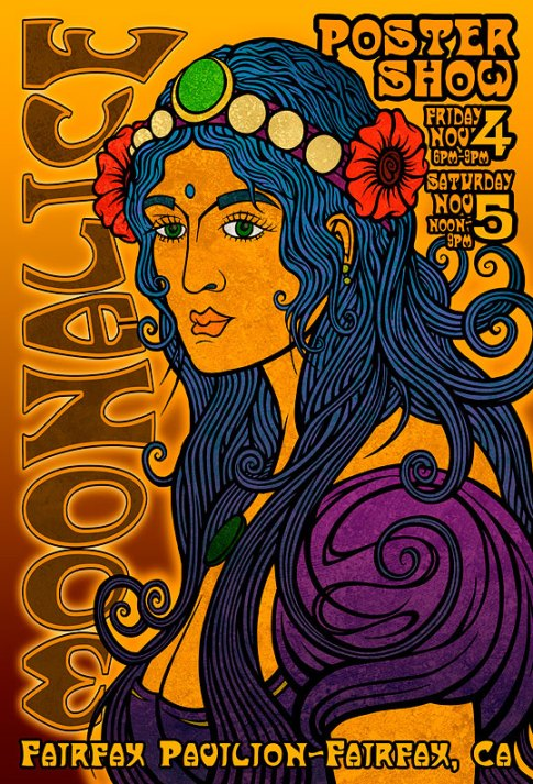 Moonalice Poster Show in Fairfax Pavilion - Nov 4th & 5th
