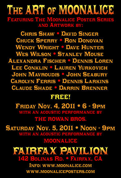 Moonalice Poster Show information