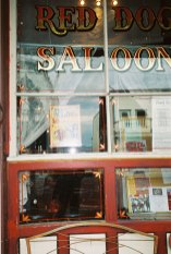 Red Dog Saloon window with Moonalice poster!