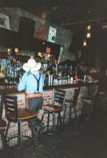 Cowboys frequent the Red Dog Saloon