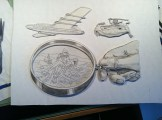 Flying High by Dennis Larkins (in progress, detail)