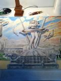 Floating Around The Fringes by Dennis Larkins (in progress, applying color)