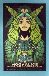 Moonalice 420 screen printed poster (M676 - Blue-Green Variant) by Alexandra Fischer