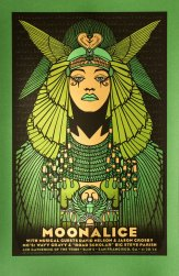 Moonalice 420 screen printed poster (M676 - Green Variant) by Alexandra Fischer