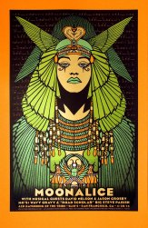 Moonalice 420 screen printed poster (M676 - Orange Variant) by Alexandra Fischer