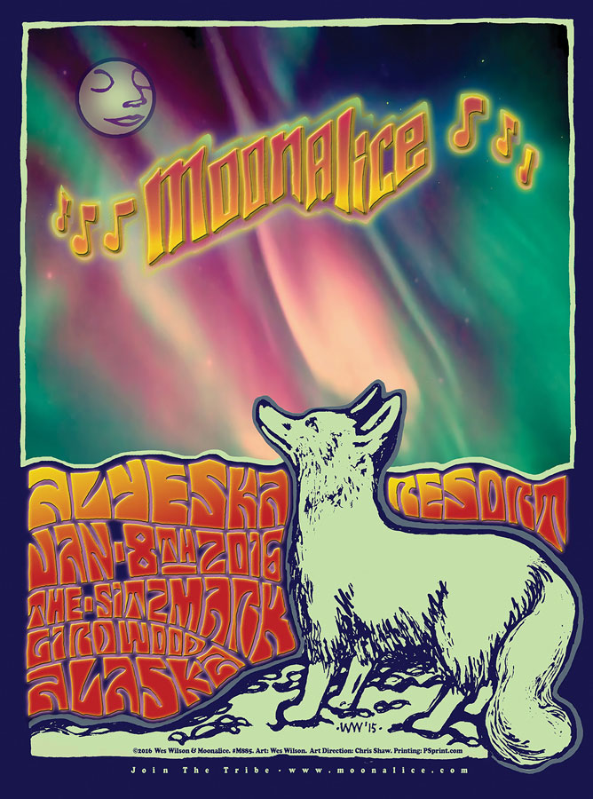 M885 › 1/8/16 The Sitzmark at Alyeska Resort, Girdwood, AK poster by Wes Wilson