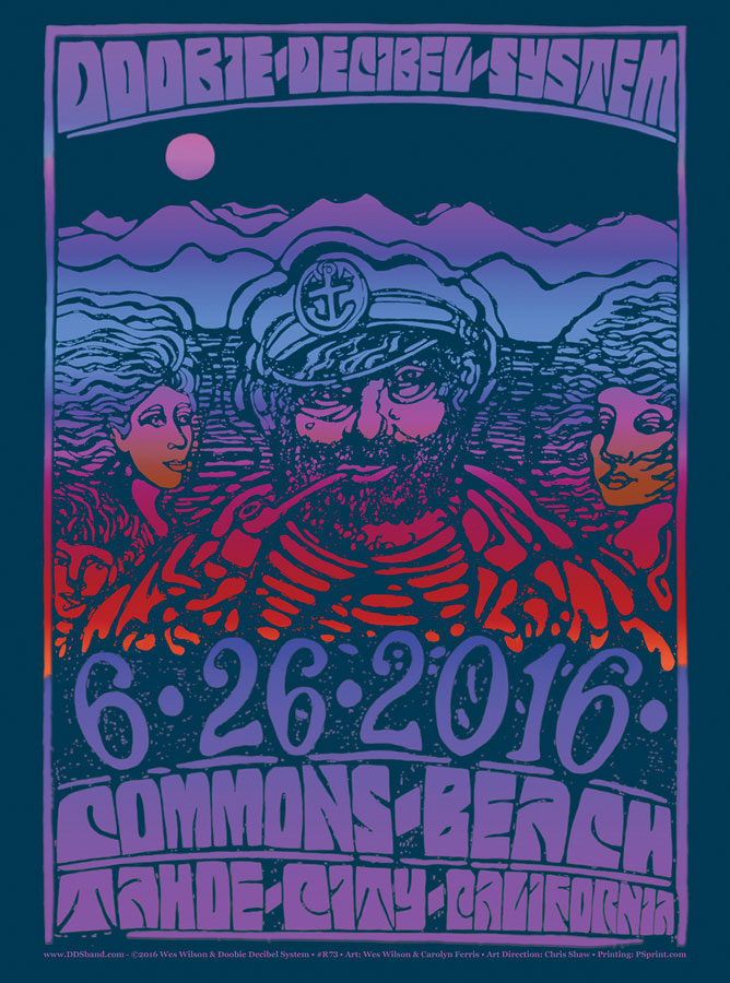 R73 › 6/26/16 Tahoe Commons, Kings Beach, CA poster by Wes Wilson & Carolyn Ferris