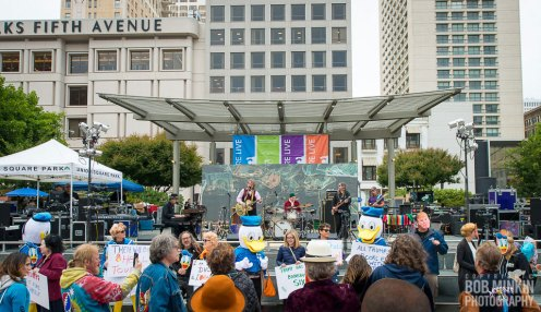 June 29, 2016 Union Square, San Francisco, CA Duck à L'Orange Political Demonstration photograph by Bob Minkin