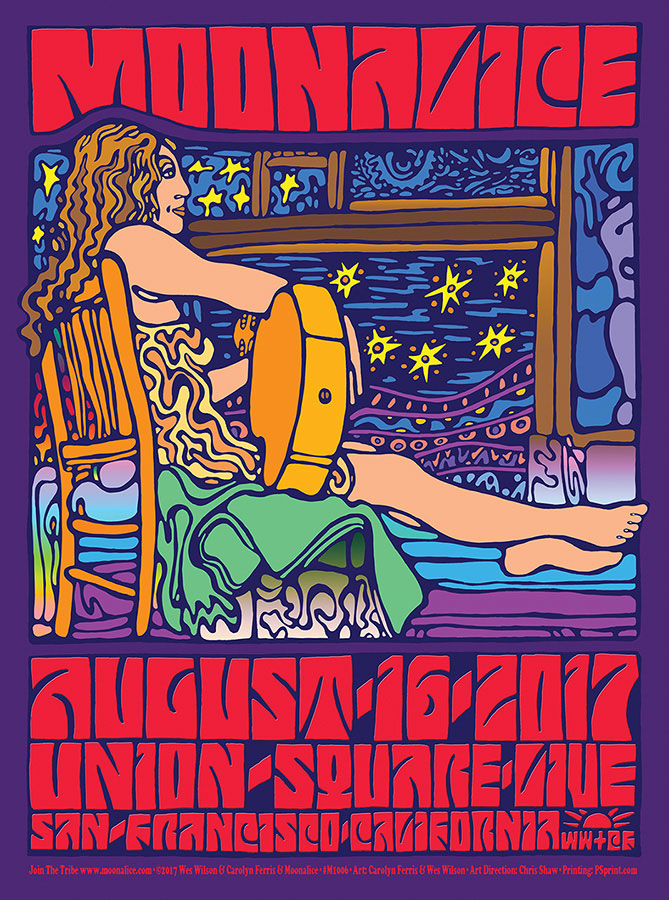 M1006 › 8/16/17 Union Square Live, San Francisco, CA poster by Carolyn Ferris and Wes Wilson