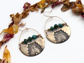 crescent guadalupe earrings