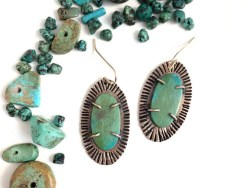 Turquoise Bronze Earrings