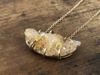 Citrine Druzy Necklace