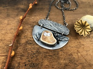 Sleeping Owl Necklace