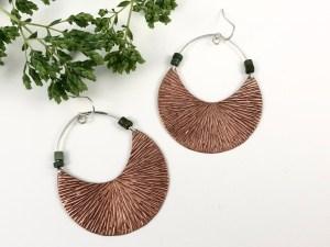 Textured Copper Hoops
